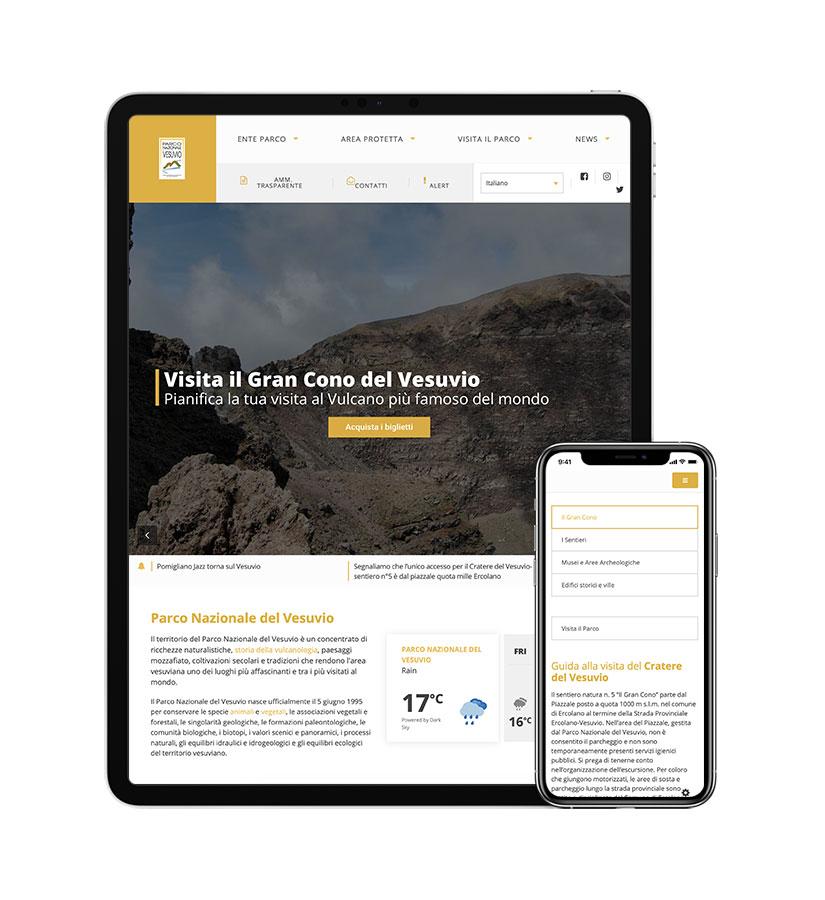 Case History Ente Parco Nazionale del Vesuvio   Web Design