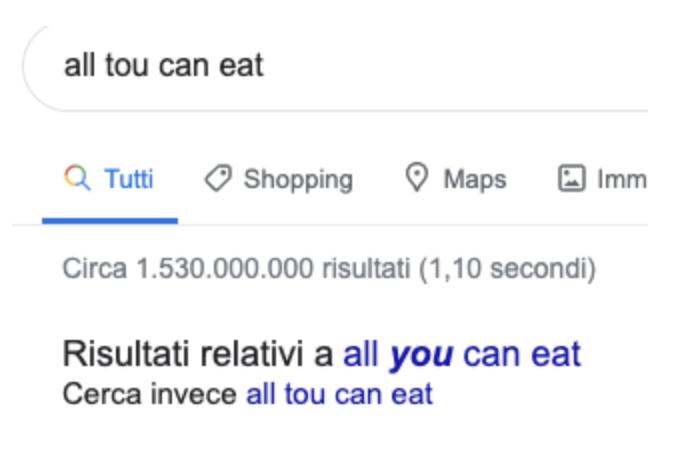 Perché è così difficile scrivere All you can eat?